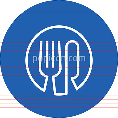 Fork And Knife Outline Icon