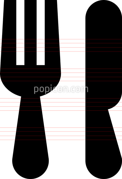 Fork Knife Vector Icon