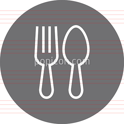 Fork Spoon Silverware Outline Icon