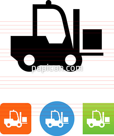 Forklift With Goods Icon