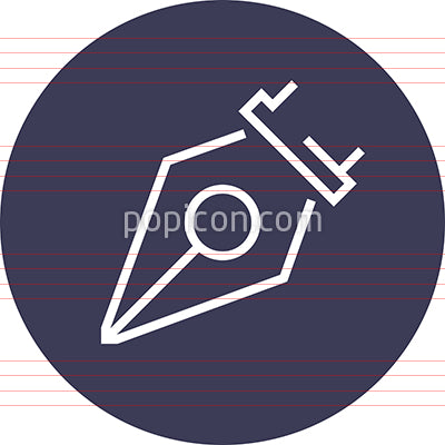 Fountain Quill Pen Outline Icon
