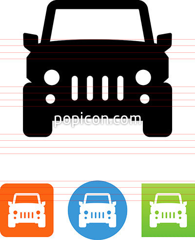 Four Wheel Drive Vehicle Front View Icon