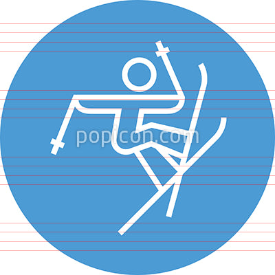 Freestyle Skier Catching Big Air Outline Icon