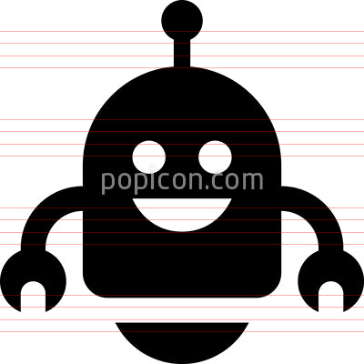 Friendly Robot Vector Icon