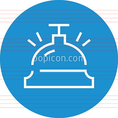 Front Desk Bell Hospitality Outline Icon
