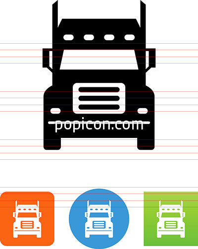 Front View Of A Semi Truck Icon