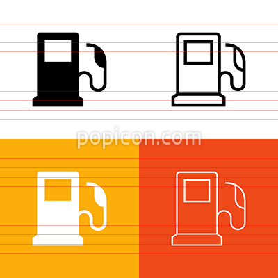 Fuel Pump Icon Set