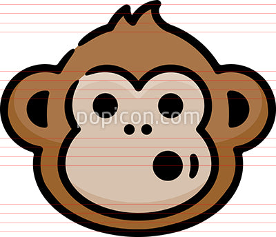 Funny Monkey Hand Drawn Icon