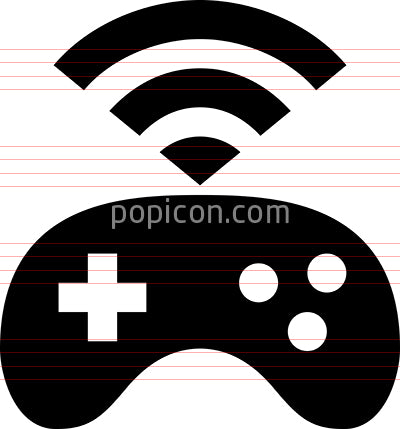 Gaming Console Signal Vector Icon