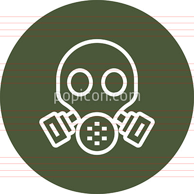 Gas Mask Respirator Outline Icon