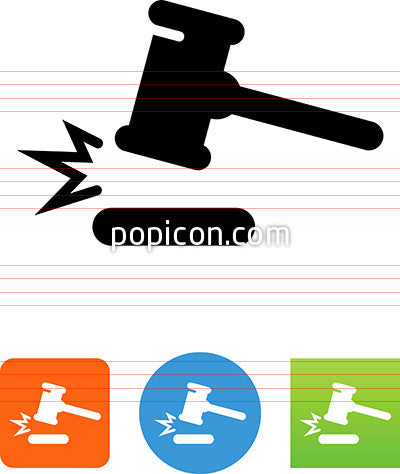 Gavel Mallet Icon