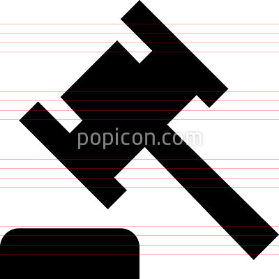 Gavel Mallet Vector Icon