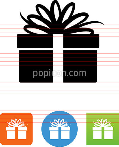 Gift Box With Ribbon Icon