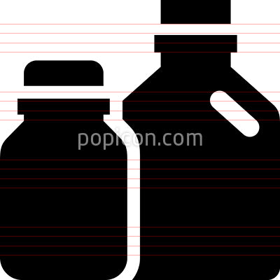 Glass Plastic Recyclables Vector Icon