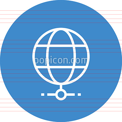 Globe LAN Connection Outline Icon