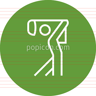 Golf Course Driving Range Outline Icon