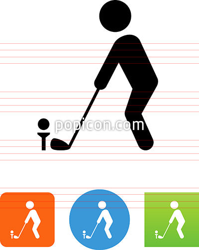 Golfer On Tee Icon