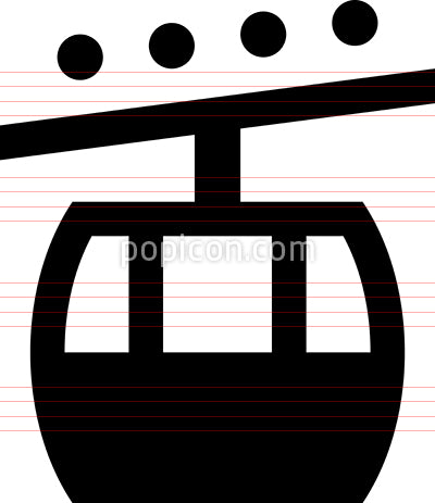 Gondola Aerial Cable Car Icon
