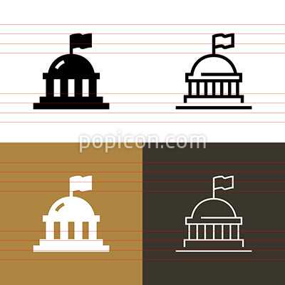 Government Capital Icon Set
