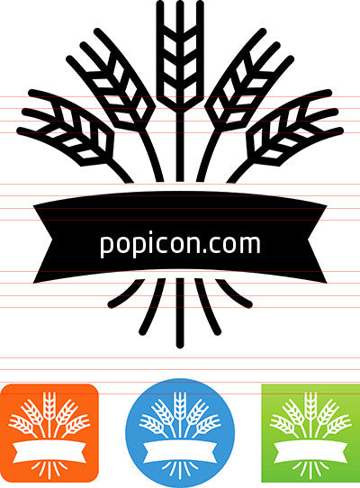 Grain With Ribbon Icon