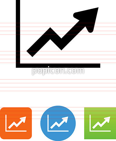 Graph With Arrow Moving Up Icon