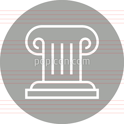 Greek Column Architecture Outline Icon