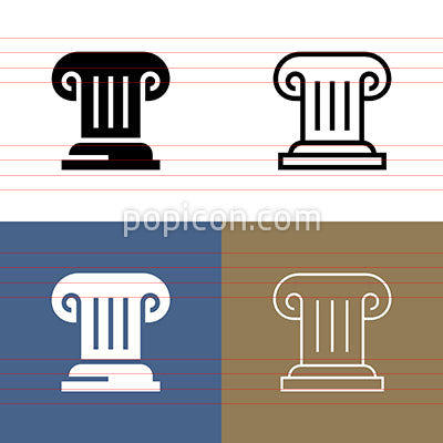 Greek Column Icon Set