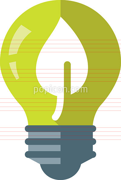 Green Energy Icon - Flat Color Series