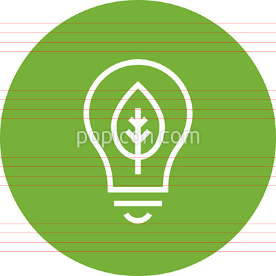 Green Energy Outline Vector Icon