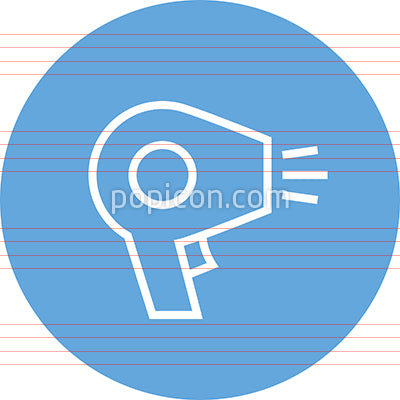 Hair Blow Dryer Outline Icon