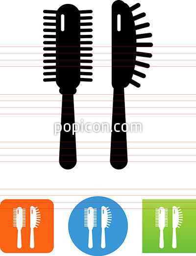 Hairbrushes Icon