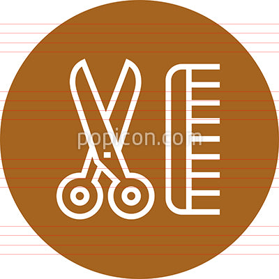 Haircut Comb Scissors Outline Icon