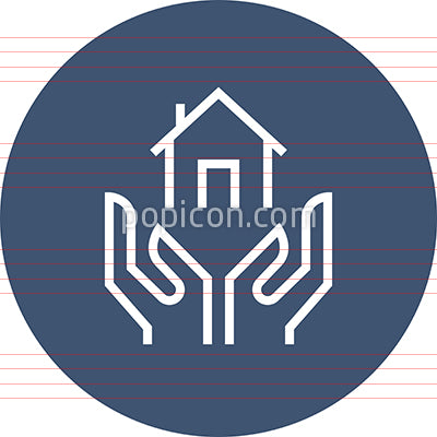 Hand Holding Home Outline Icon