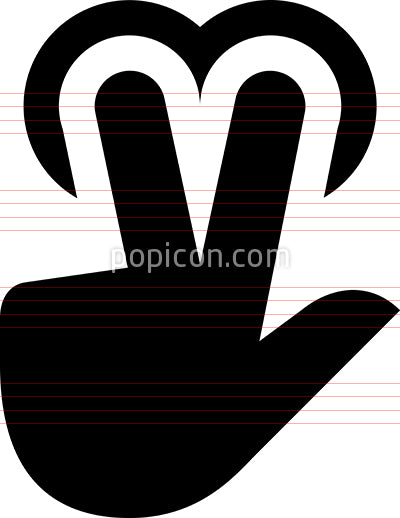 Hand 2 Finger Tap Vector Icon
