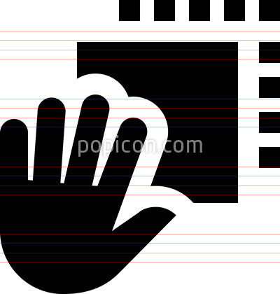 Hand Drag Drop Vector Icon