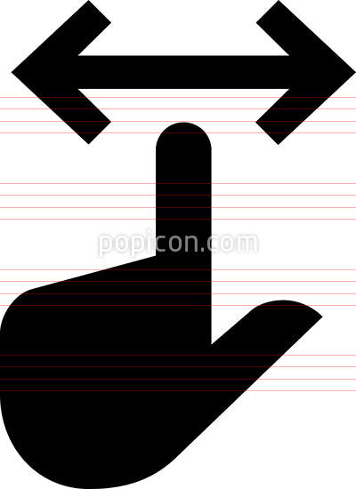 Hand Finger Pan Vector Icon