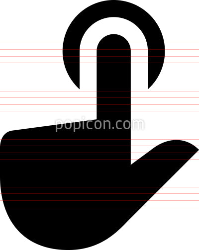 Hand Finger Tap Vector Icon