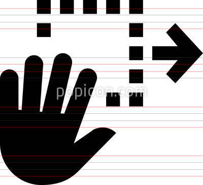 Hand Gesture Drag And Drop Vector Icon