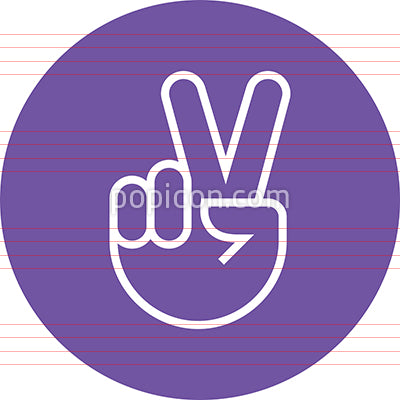 Hand Gesture Peace Sign Victory Outline Icon