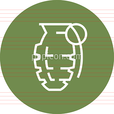 Hand Grenade Weapon Outline Icon