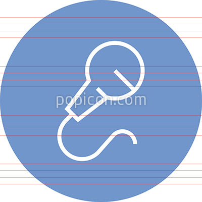 Hand Held Microphone Outline Icon