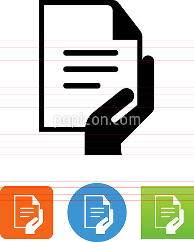 Hand Holding Document Icon