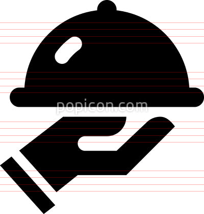 Hand Holding Food Tray Vector Icon