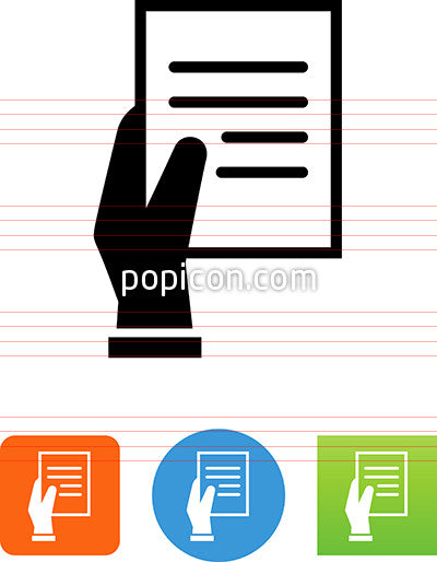 Hand Holding Notes Icon