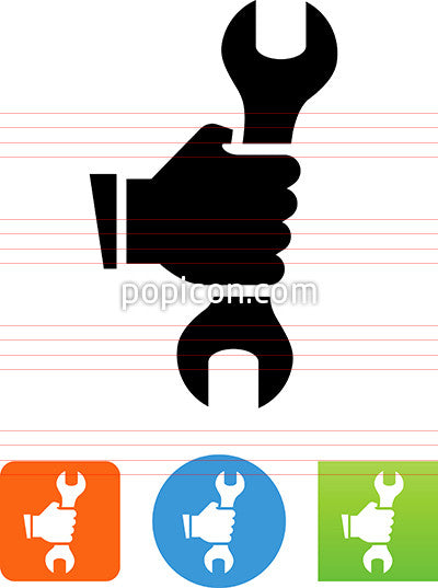 Hand Holding Wrench Icon