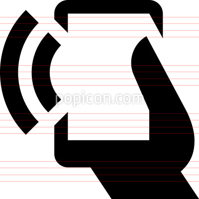 Hand Phone Signal Out Vector Icon