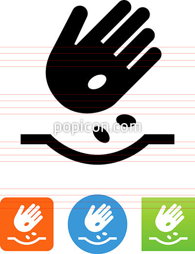 Hand Planting Seeds Icon