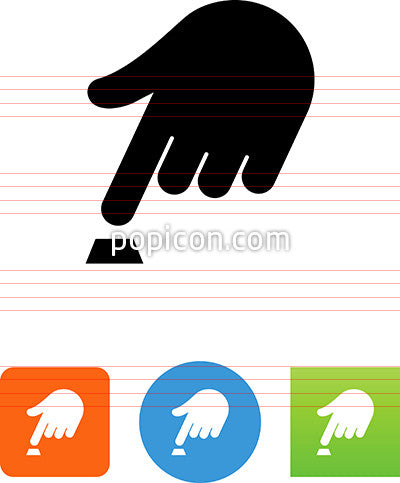 Hand Pushing A Button Icon