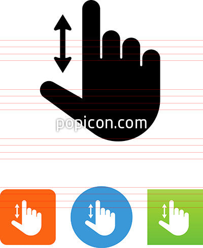 Hand Scrolling Up And Down Icon