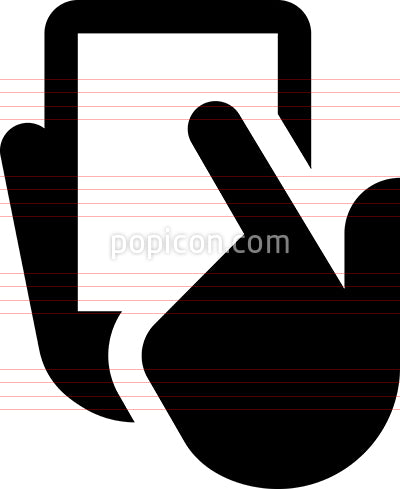 Hand Select Smartphone Vector Icon